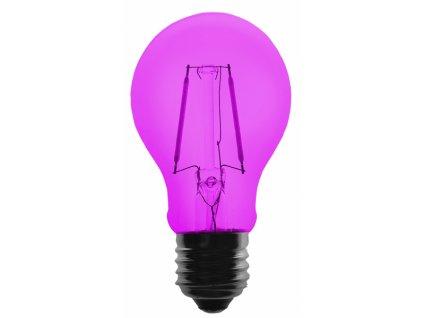 Žárovka LED FILAMENT A60, 36V ss., fialová