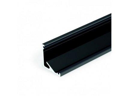 Profil pro moduly LED úhlové černá L: 1m hliník eloxované