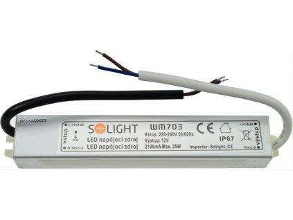 LED napájecí zdroj 230V - 12V 2.1A 25W IP67