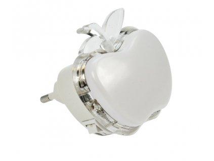 Noční LED světélko jablko, 0,5W, RGB, 230V, vypínač