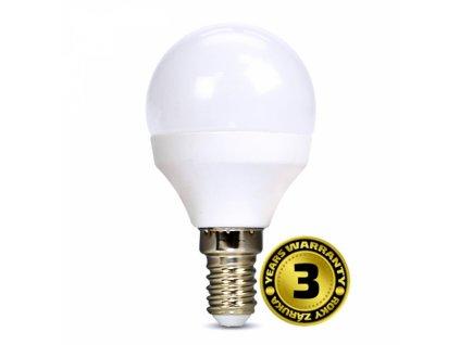 LED žárovka, miniglobe, 6W, E14, 4000K, 510lm, bílé provedení
