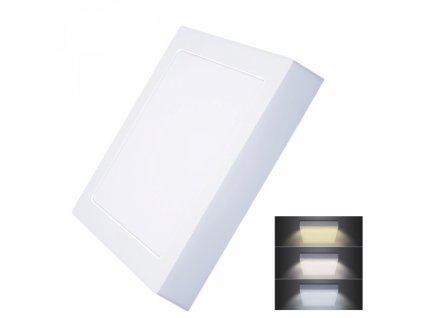 LED mini panel CCT, přisazený, 18W, 1530lm, 3000K, 4000K, 6000K, čtvercový