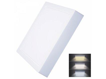 LED mini panel CCT, přisazený, 24W, 1800lm, 3000K, 4000K, 6000K, čtvercový
