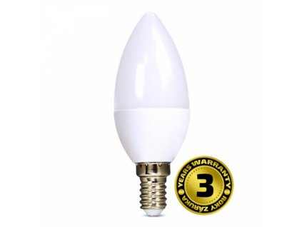 LED žárovka, svíčka, 6W, E14, 4000K, 510lm