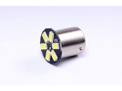 žárovka LED 12V 5W BA15s čirá 6xSMD 5730