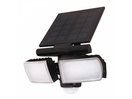 LED solární osvětlení se senzorem, 8W, 600lm, Li-on, černá