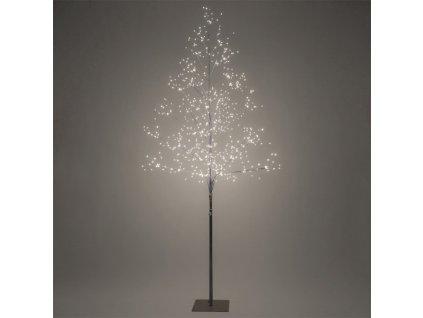 LED venkovní stromek, 150cm, 360 LED, teplé bílé světlo, hnědá barva