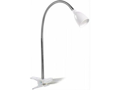 LED stolní lampička 2.5W 3000K clip bílá barva
