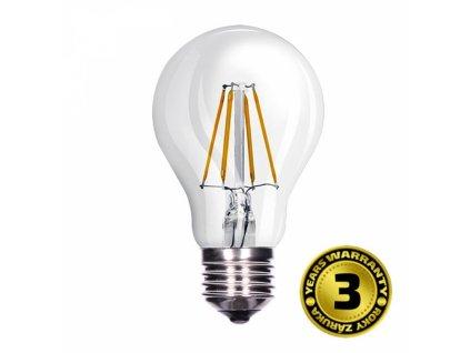 LED žárovka retro, klasický tvar, 8W, E27, 3000K, 360°, 810lm
