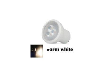 LED žárovka GU10 230V 3W 35mm teple bílá