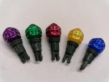 Náhradní žárovička do řetězu perlička 12V barevná