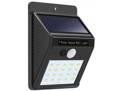Solární svítidlo LED-20x s PIR čidlem nástěnné /Solární světlo/