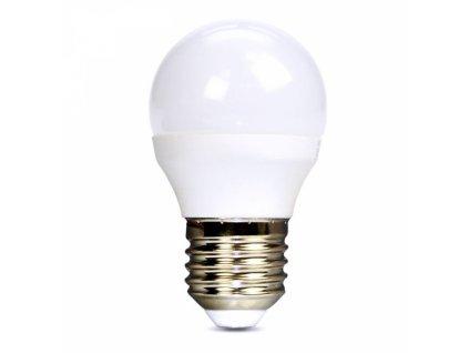 LED žárovka, miniglobe, 6W, E27, 4000K, 510lm