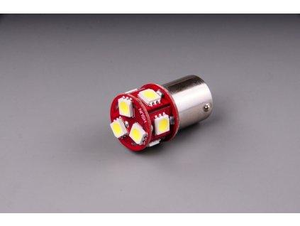 žárovka LED 6V 5W BA15s čirá 8xSMD