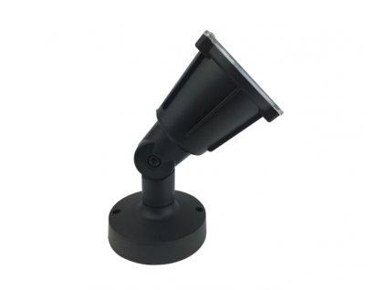 Venkovní nástěnný reflektor KERTGU10B max. 5W LED/GU10 230V/IP54, černý