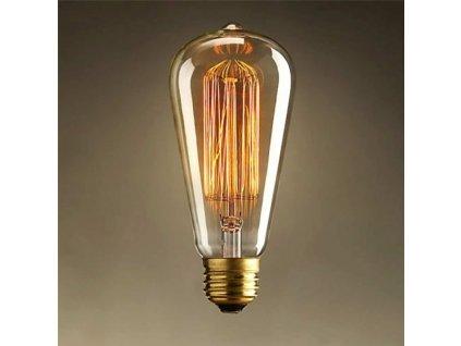 EDISON retro žárovka ST64 40W E27