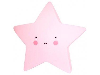 Noční světlo LED hvězdička- růžová