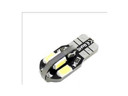 LED žárovka T10 studená bílá 8SMD CANBUS