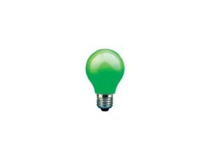 PHILIPS klasická žárovka 15W E27 zelená barevná Partytone