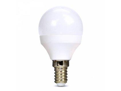 LED žárovka, miniglobe, 6W, E14, 6000K, 510lm