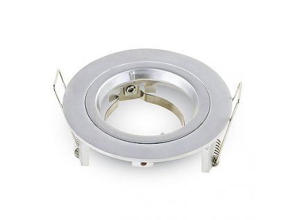 GU10 rámeček (svítidlo) GU10 Fitting Round Silver Grey,  VT-774