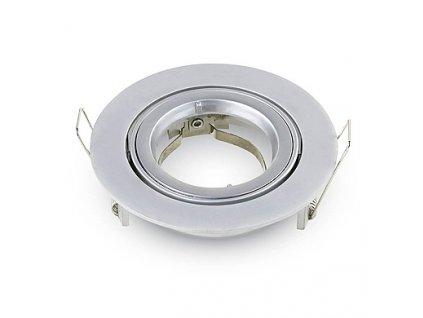 GU10 rámeček (svítidlo) GU10 Fitting Round Silver Grey,  VT-775