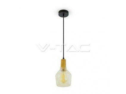 Závěsné svítidlo Glass Pendant Light Amber 2200K Ø135,  VT-7130