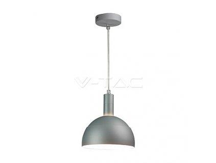 Závěsné svítidlo Plastic Pendant Lamp Holder E14 With Slide Aluminum Shade Grey,  VT-7100