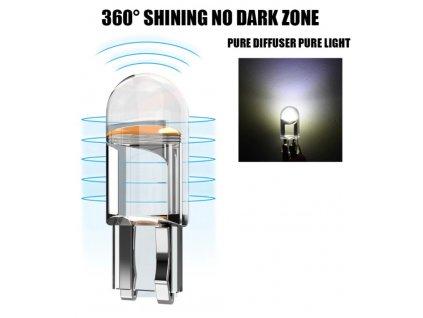 LED žárovka T10 mini bílá W5W studená bílá