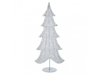 LED vánoční 3D stromek, 90 cm, vnitřní, studená bílá, časovač