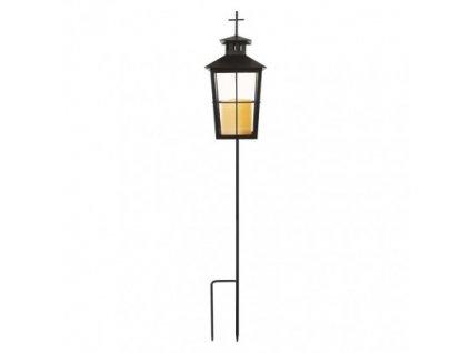 LED lucerna kovová se stojanem, 3x AAA, venkovní i vnitřní