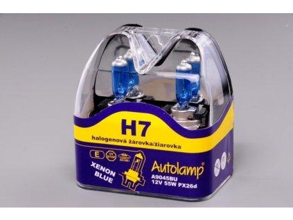 Krabička autožárovek H7 12V 55W XENON BLUE v blistru