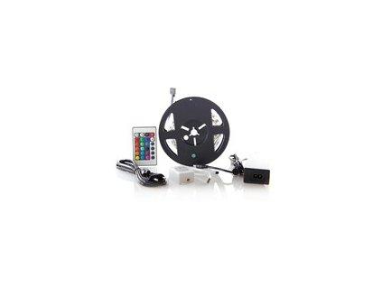 LED světelný pás RGB 3m sada s 12V adaptérem a dálk. ovladačem 7,2W/m IP20