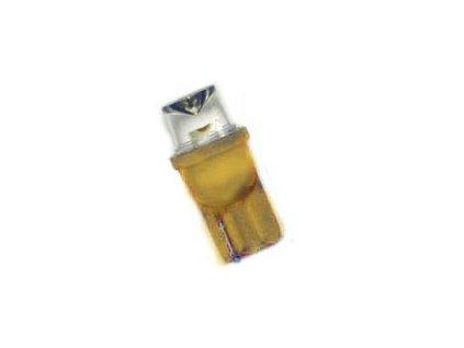 LED žárovka 12V T10 W5W W2,1x9,5d oranžová rozptylka 140°