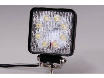 Světlomet LED pracovní čtvercový 8-30V širokoúhlý-rozptylový 24W