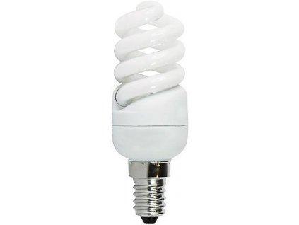 Úsporná žárovka 230V/9W E14 spirála,denní bílá DOPRODEJ