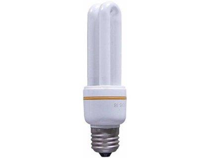 Úsporná žárovka 230V/15W E27 2xU,teplá bílá, DOPRODEJ