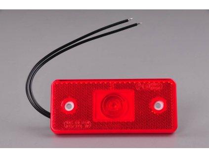 světlo poziční W17D (103P) červené LED 12V+24V