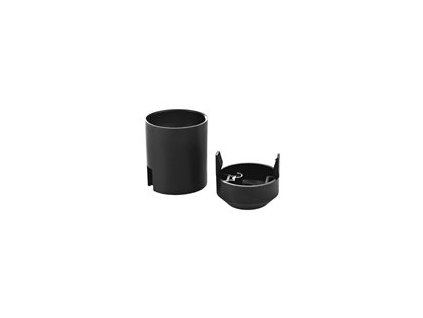 Objímka na žárovku E27 plastová 1351-13000, černá
