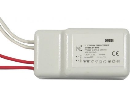Elektronický transformátor ET-50 12V AC, pro osvětlení