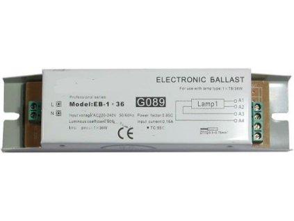 Elektronický předřadník EB-1x36 pro zářivku 36W