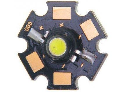 LED 3W bílá 6500K, 180lm/800mA, 120°