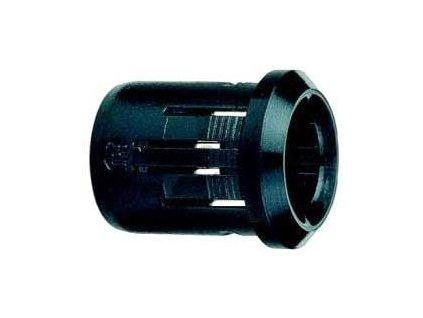 Objímka LED 8mm 1 dílná černý plast RTF-8080