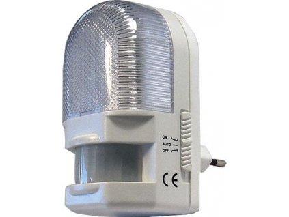 Noční světlo s PIR čidlem do zásuvky 230V/7W E12