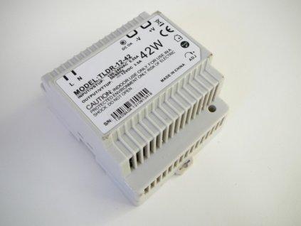 LED zdroj 12V 42W na DIN lištu - DIN lišta 12V 42W TLDR-12-42 zdroj vnitřní