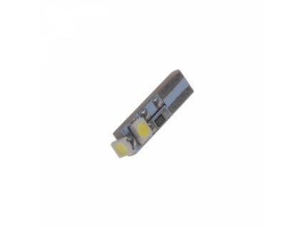 LED žárovka 12V s paticí T5 bílá 3LED/SMD CANBUS