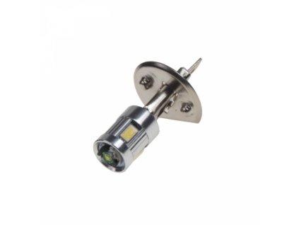 LED žárovka H1 bílá 12SMD Samsung + 3W Osram 12V