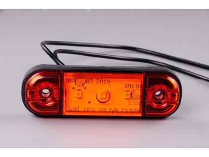 světlo poziční W97 LED 12+24V oranžové