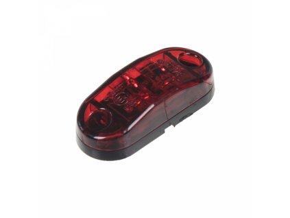 Zadní obrysové světlo LED červený ovál homologace