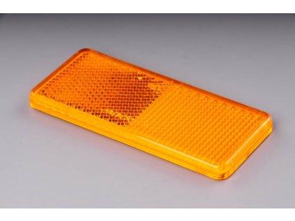 odrazka oranžová samolepící 90x40mm